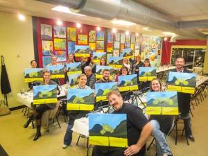 wine and canvas event